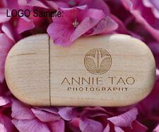 8G Custom photography Logo maple wooden USB 2.0 pen thumb Drive Memory Stick