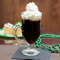 24 CASE 8 Oz Clear Glass Commercial Bar Irish Coffee Tea Ice Cream Shake Mug