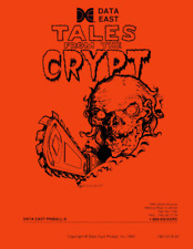 Tales from the Crypt Pinball Game FULL Service & Repair Operations Manual     YA
