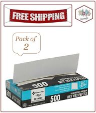 "2 Pack Member's Mark Wax Paper Sheets 12"" X 10.75"" . (Total 1000 ct.)"