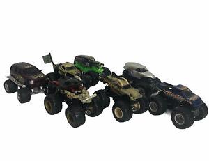 Hot Wheels Monster Jam Truck Lot Grave Digger Mutt Pirates Police Thrasher