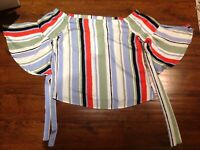 Brand New VILA Stripped Bandeau Top/Blouse Size 14