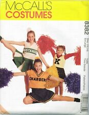 McCalls 8382 Childrens Girls School Cheerleader COSTUME pattern UNCUT FF NEW
