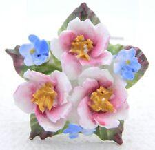 VTG AYNSLEY Fine Bone China ENGLISH Porcelain Flower Cluster Pin Brooch