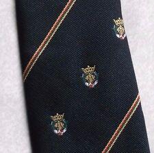 Lebrett Corbatas Corbata Mens Corbata Club Asociación Negro Crest Motif 1980s