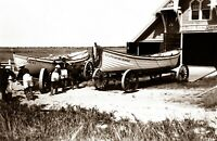 """1910's Surf Life Saving Station, Nantucket Vintage Photograph 11"""" x 17"""" Reprint"""