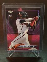 2018 Topps Chrome Ronald Acuna Jr. Pink Refractor RC Atlanta Braves Rookie SP