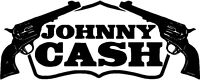 Johnny Cash Rock Roll Decal Vinyl Sticker 2 Stickers 9 inches wide