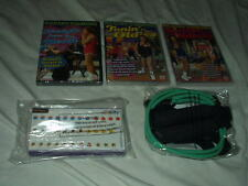 Richard Simmons NEW Sweatin'+Tonin' to Oldies DVD's+Boogie Cords+Food Mover LOT