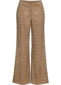 Coole Hose mit weitem Bein Gr. 36 Camel Schwarz Damenhose Freizeit-Pants Neu*