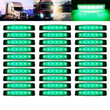 30X 3.8 inch 6 LED Side Marker Indicators Lights Green for Lorries Truck Trailer