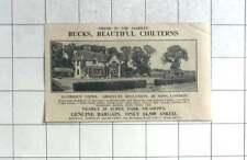 1936 Bucks 40 Minutes London Eight Bedroom House 20 Acres £4500