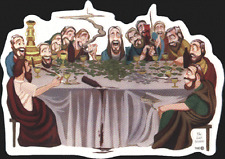 12076 Last Session Supper Novelty Weed Pot Hippie MJ Transparent Sticker / Decal