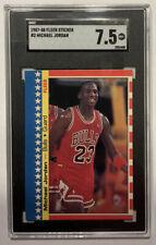 1987 Fleer Sticker Michael Jordan #2 SGC 7.5 NM+. HOF GOAT New Case!