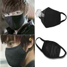 2pcs Unisex Men Women Cycling Anti-Dust Cotton Mouth Face Mask Respirator Black