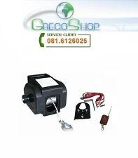Verricello/Argano/Paranco/Tirabarche 12V 2000 lbs c/telecomando wireless
