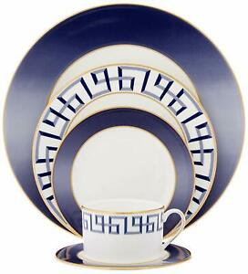 Lenox Darius 5 Piece Place Setting, Service for 1, Blue and Gold