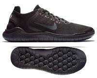 New NIKE Free RN 2018 Men's Running Shoes triple black dk gray all sizes