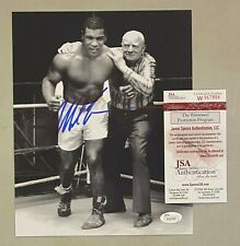 Mike Tyson Signed 8x10 Boxing Photo Autographed AUTO JSA WITNESSED COA HOF
