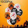 "10/20pcs 12"" Halloween Skull Balloon Ghost Confetti Latex Balloons Party Decor"