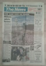 The Portsmouth News Newspaper  Jun 7 1984 D-Day Remembered Beach Head '84