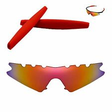 Polarized Fire Red Vented Replacement + Red Earsocks for Oakley M Frame Sweep