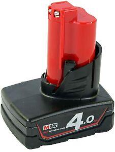 Milwaukee M12B4 Batterie 12V 4Ah Li-ION lithium compacte pour perceuse visseuse