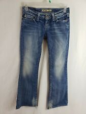 Big Star Sweet Low Rise Boot Cut Womens Denim Blue Jeans Size 27 x 32 Light Wash