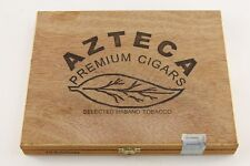 Vintage AZTECA PREMIUM CIGARS Empty Wooden Box Dominican Republic