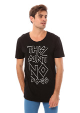 100% AUTHENTIC MENS LEE TEE BLACK SIZE XXL RRP $59.95