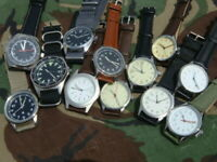 Military style pilots Army Military watch quartz bargain RAF USAF French USA GB