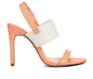 ASOS Coral Barely There Hold Out Leather Sandals - 4