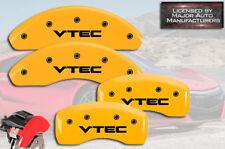 "2003-2011 Honda Element Front + Rear Yellow MGP Brake Disc Caliper Covers ""VTEC"""