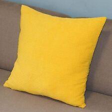 Yellow Cushion Cover Pillow Case Corn Kernels Corduroy Decor Square 43cm Pt164