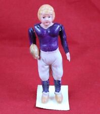 Vintage Celluloid Toy Purple Football Player Made in Japan