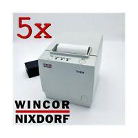 5x STAMPANTE TERMICA RICEVUTE SCONTRINI 80MM WINCOR NIXDORF TH230 USB STOCK-