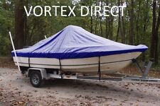"""NEW VORTEX BLUE 18'6"""" CENTER CONSOLE BOAT COVER, FOR UP TO 54"""" TALL CONSOLE"""