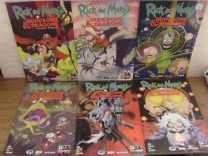 RICK AND MORTY DUNGEONS & DRAGONS PAINSCAPE 1-4 A D ONI COMIC SET 2019 NM RARE!