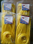 4 Pack Lot Anchor Line 38 X 100 Braided Polypropylene Yellow Anchor Rope