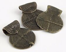 Group of 3 Antique Bronze Beyops. Adi Girls Arunachal Pradesh India