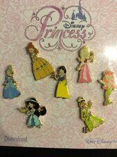 Disney Pin Set 92899 Kids Princess Dolls Tiana Jasmine Ariel Belle Cinderella