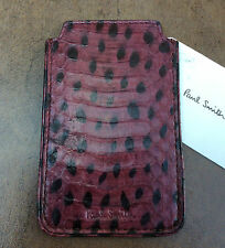 PAUL SMITH PURPLE & BLACK WHIPSNAKE LEATHER  IPHONE 4/4S POUCH MADE IN ITALY
