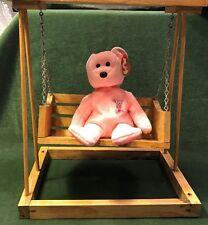 Vintage Handmade Wood Doll Swing Bench Working Swing