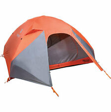 Marmot Tungsten Tent-4 Person 3-Season 2 Doors Backpacking Tent, Blaze/Steel