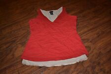 E8- Moda International Sleeveless Top Size M