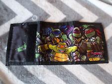 Teenage Mutant Ninja Turtles trifold Wallet Cartoon Money Animated Velcro