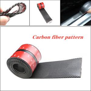 2.5M*10CM Car Carbon Fiber Rubber DIY Edge Guard Strip Door Sill Protector Part