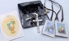 "MRT Black First Holy Communion Kit Rosary Set Catholic Boys Gift 3"""