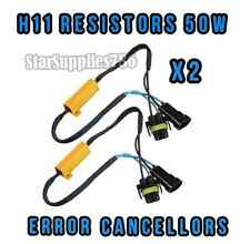 2x H8/H11 RESISTORS FOG LIGHT WARNING CANCELLERS H11 50W