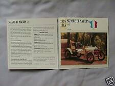 Sizaire et Naudin 8HP Collectors Classic Cars Card